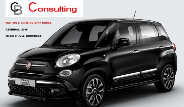 fiat 500 l city cross aziendali 20018